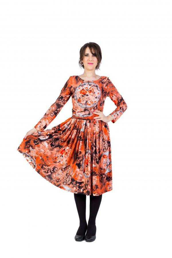 Orange Cocktail Dress1