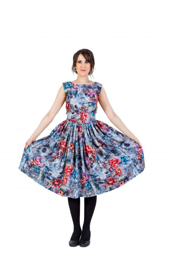 Floral Summer Midi Dress1