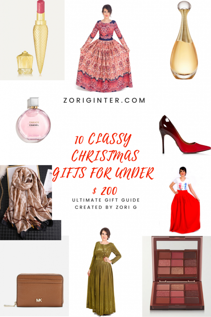 The Ultimate Christmas Gifts Guideline (10 Branded Gifts For Women Under 200 Dollars)